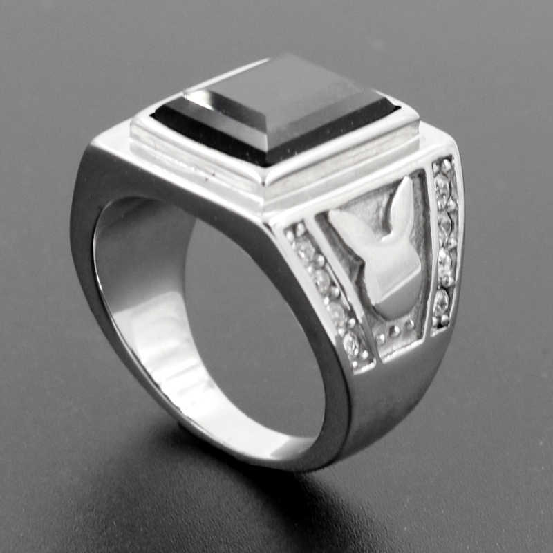 Detail Feedback Questions About High Quality Jewelry Men Black Stone