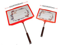 A3 10 Pcs Hand Placards Frame Sports Team Leader Sign Holder Outdoor Adverting Sign Poster Label