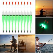 10Pcs/Lot Fishing Floats Set Buoy Bobber Fishing Light Stick Floats Plastic Luminous Fluctuate float For Fishing Accessories