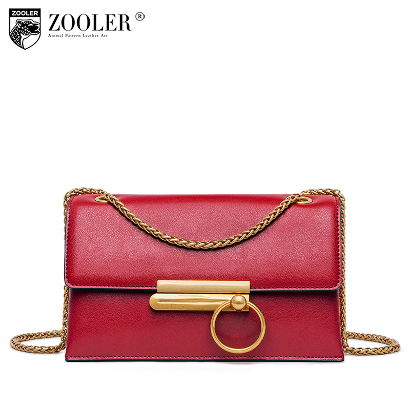 Classice woman bag ZOOLER genuine leather bag woman messenger bags designed cross body soft cowhide small bag top quality R150
