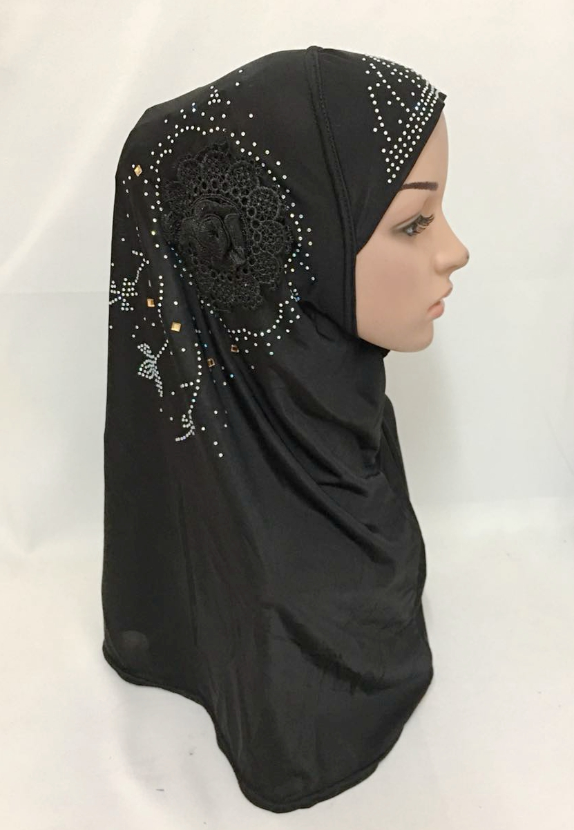 12 pieces lot ramadan new designs flower rhinestones muslim hijab islamic scarf ML116
