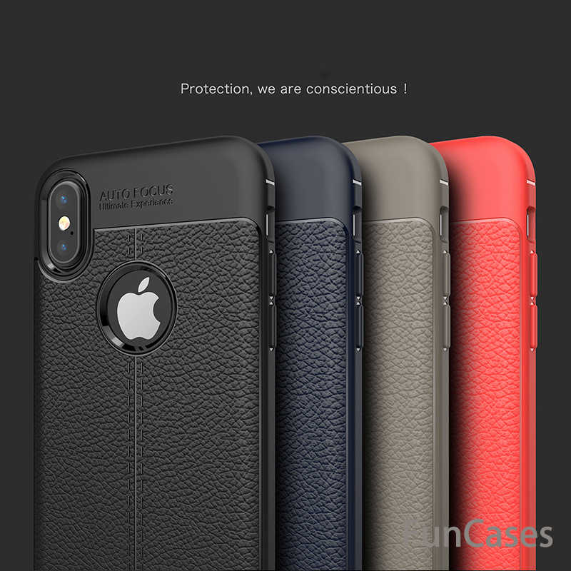 Carbon Fiber TPU leather Case For iPhone X 10 Soft Full Cover Silicone shockproof Back Cover For iPhone 6 6S 7 8 Plus 5 5S SE