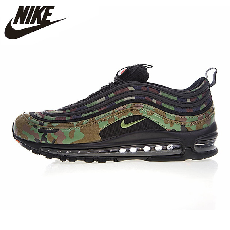 Nike Air Max 97 Premium QS Men's Running Shoes, Camo Yellow