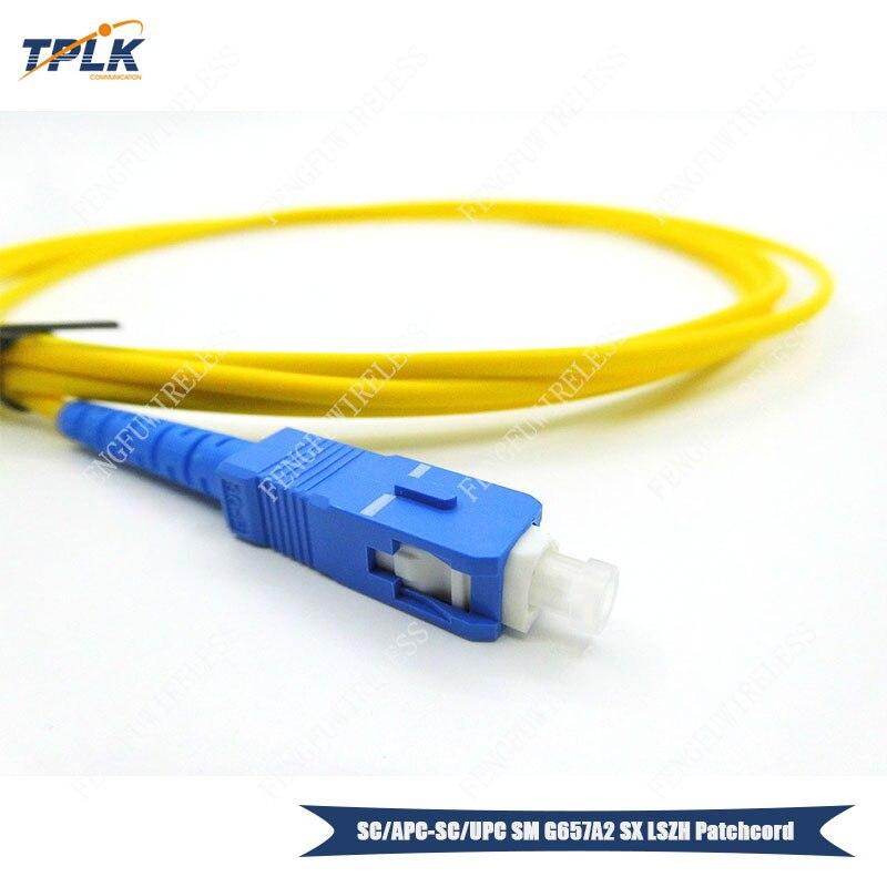 10 шт./лот SC APC-SC UPC G657A2 3,0 мм Simplex одномодовый 2 м патчкорд из оптического волокна LSZH