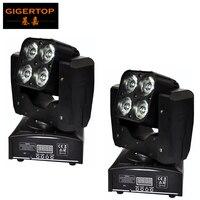 8Pcs Lot 7Pcs 18W 6In1 Mini Led Moving Head Light RGBWA UV DMX 512 Led Moving