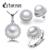 Cytheria conjunto de perlas naturales, sistemas de la joyería collar pendiente de plata perla y pendientes para mujeres