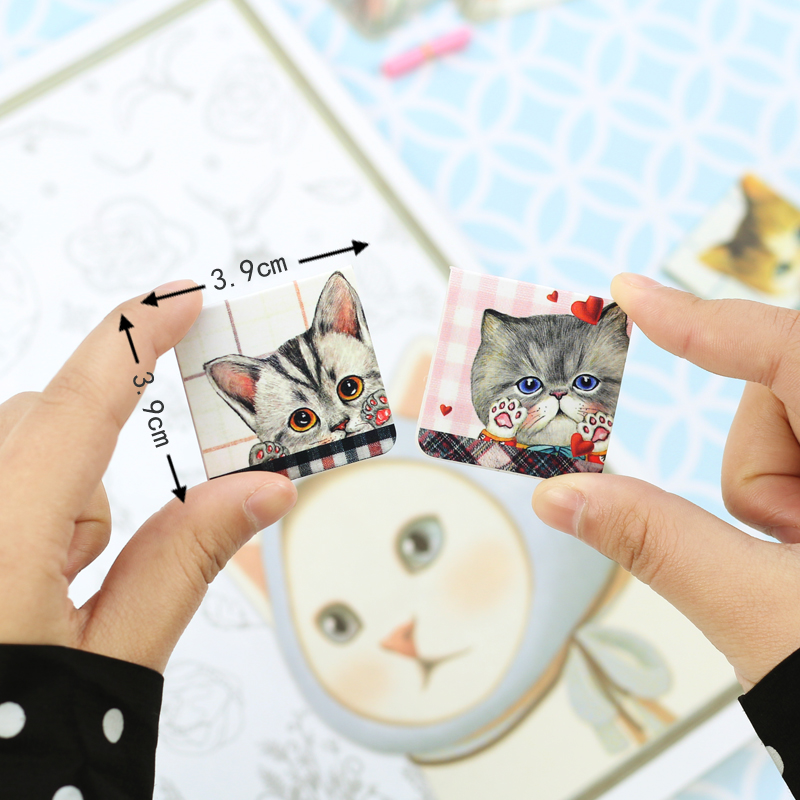 24 Set/Lot Uncle Cat Magnetic Bookmark Mini Page Clip For Book Holder Kawaii School Supplies Marcador Material Escolar FC115