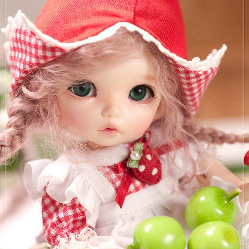 Oyuncaklar ve Hobi Ürünleri'ten Bebekler'de BJD bebek Pukifee Ante 1/8 Sevimli Moda Reçine Doğal Poz Oyuncaklar Kızlar için Oyuncak Kız Mini Bebek Eklemli Bebek FL'da  Grup 1