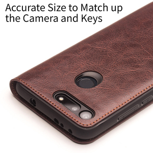 Image 3 - جراب هاتف من جلد طبيعي فاخر صناعة يدوية من QIALINO لهاتف Huawei Honor V20 جراب قلّاب فائق النحافة مع فتحة لبطاقة لهاتف Honor View 20