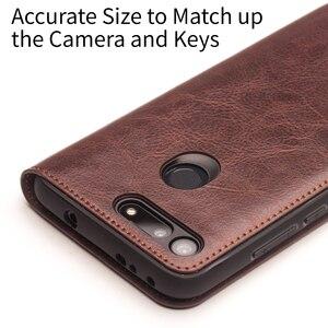 Image 3 - QIALINO funda de teléfono de cuero genuino hecha a mano para Huawei Honor V20, funda ultradelgada con ranura para tarjetas, Honor View 20