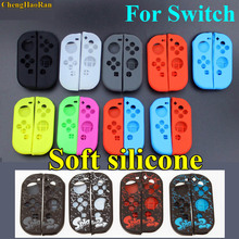 ChengHaoRan Red black green clear Soft Silicone Protective Skin Case For Nintendo Switch NS Joy-Con Controller Shell