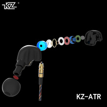 Unique KZ ATR skilled sports activities cable three.5 mm excessive constancy with microphone HIFI ear model for cell phone iPhone Samsung