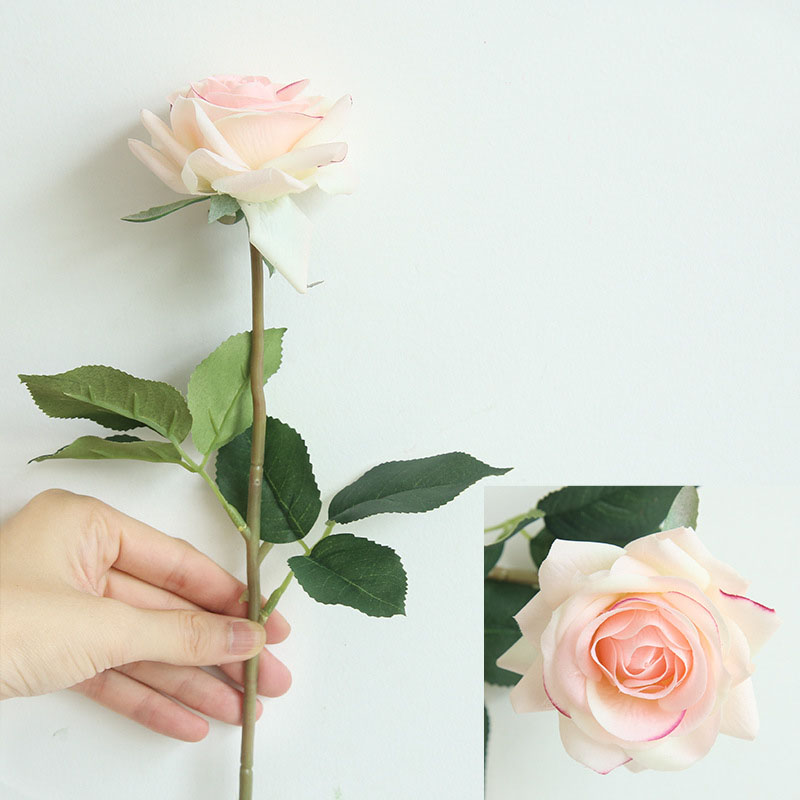 Real touch roses artificial flower wedding home decoration (1)