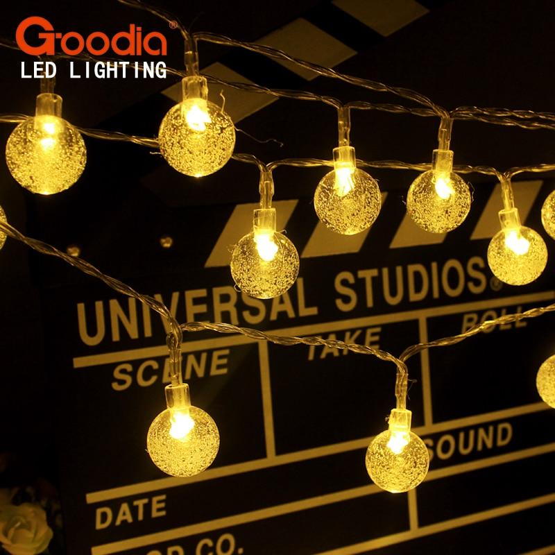 Baterija Božićna svjetla 175 inča 40 LED svjetla String kristalna - Rasvjeta za odmor - Foto 1