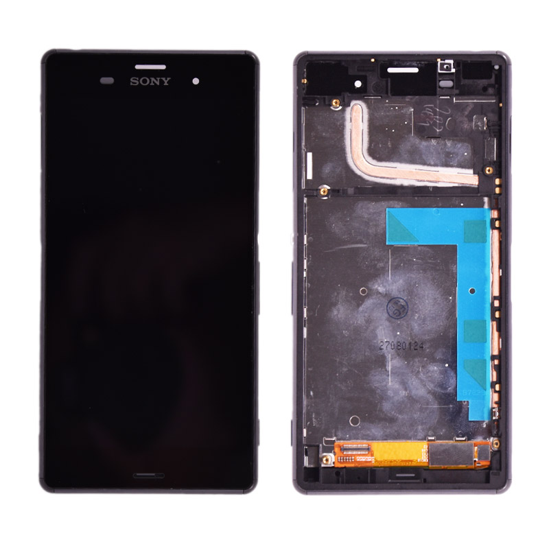 Original For <font><b>Sony</b></font> Xperia <font><b>Z3</b></font> <font><b>D6603</b></font> D6653 L55t LCD Display with Touch Screen Digitizer Assembly with frame free shipping image