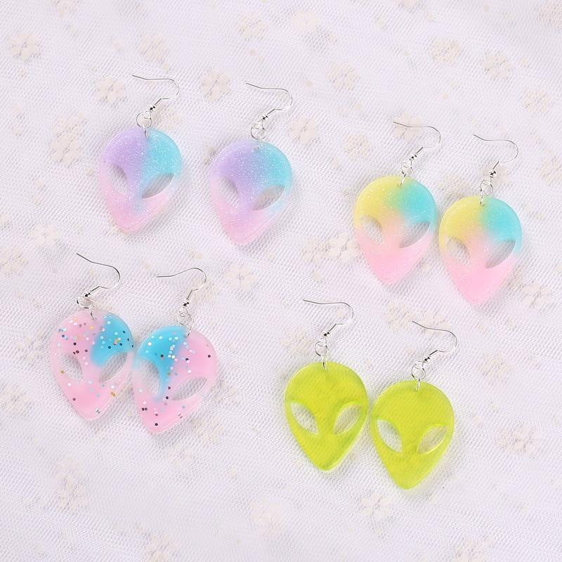 1 Paar Mode Handwerk Harz Tropfen Ohrringe Für Frauen Japan/koreanische Mode Schmuck Großhandel
