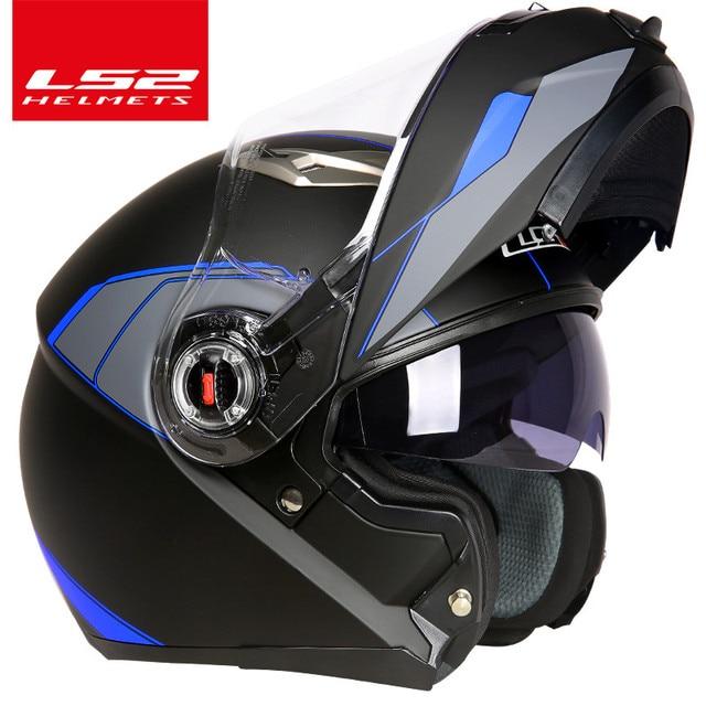 casco capacete LS2 ff370 flip up stomtrooper road bike moto helmet for motorcycle with sun shield lens 3