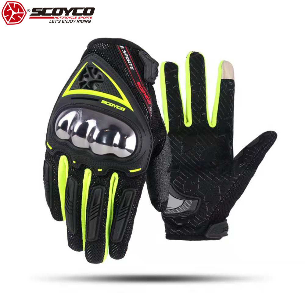 SCOYCO Mens Motorcycle Gloves,Safety Comfortable Extreme Sports Guard Breathable Outdoor Race Gloves.