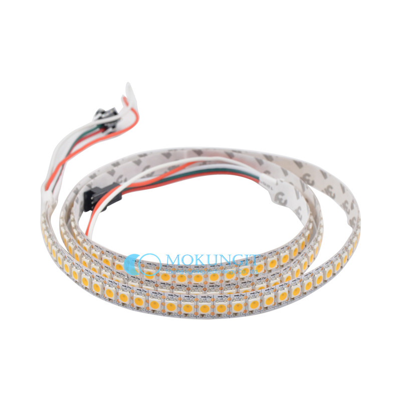 цены на 5x 1m SK6812 WHITE Color Cool White/Warm White 144LEDs/m led pixel strip,Addressable IP30/IP65/IP67 WHITE Black PCB DC5V