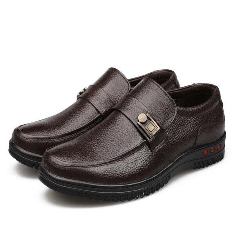 Formelle Robe Mocassins Italien Marque brown black Black De Luxe Muhuisen Shoelaces Hommes Shoelaces Cuir Chaussures Véritable No 38 Taille Shoelaces 44 En wA0gxC6qI