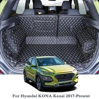 For Hyundai KONA Kauai 2017 Present Car Boot Mat Rear Trunk Liner Cargo Floor Carpet Tray Protector Accessories Mats