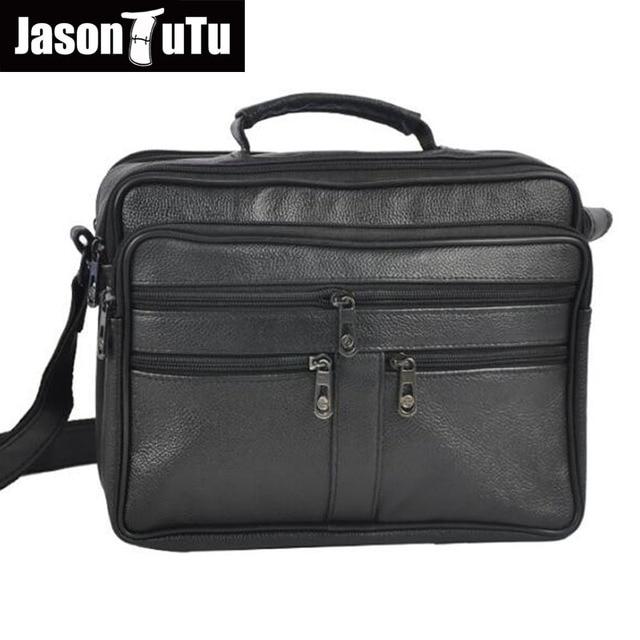 9e7a715b72c3 Men messenger bags Cow Leather Male Handbag pocket Realer Genuine Leather  Shoulder crossbody bag For Father birthday gift HN350