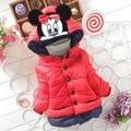Crianças outerwear algodão casacos com capuz jaqueta de inverno crianças casaco de inverno meninas para baixo e Parkas