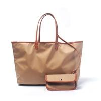 plain composite bag solid color woman handbag with small coin purse fashion canvas tote bag DOM816