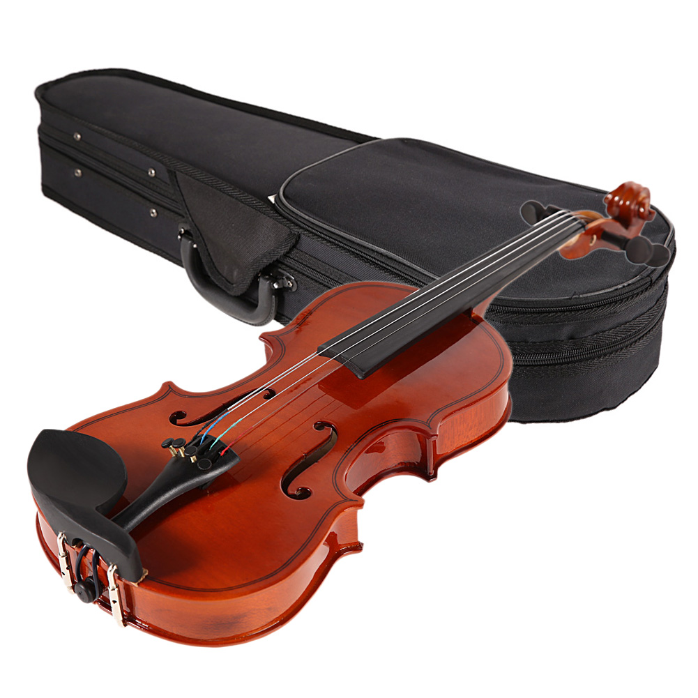 ФОТО  Professional Basswood 1/8 Full Size Natural Acoustic Violin Fiddle With Case Row Rosin Stringed Instruments