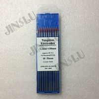 Free Shipping !!! 10PCS 2% red tip WT20 Thorium Tungsten electrode 3.2mm for TIG welding