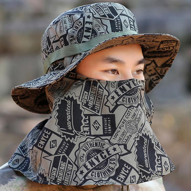 Mens Hunting Sports Breathable Sunshade Fishing Caps Hats Camouflage Fishing Caps Men UV Protection Face Neck Cover Fishing CapsMens Hunting Sports Breathable Sunshade Fishing Caps Hats Camouflage Fishing Caps Men UV Protection Face Neck Cover Fishing Caps