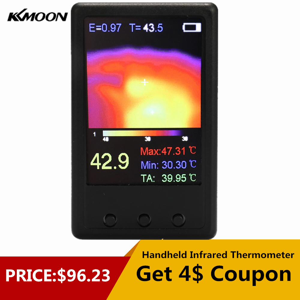 Infrared Thermometer Handheld Thermal Imaging Camera Portable IR Thermal Imager Infrared Imaging Device Temperature Sensor in Temperature Instruments from Tools