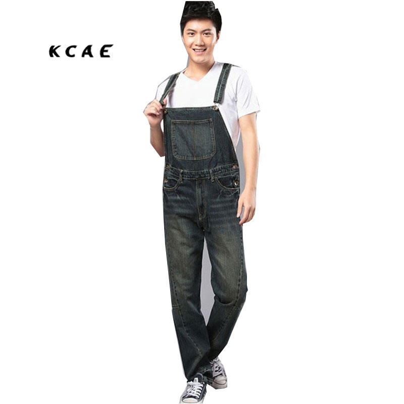 S-4XL 2015 Mens plus size overalls Large size huge denim bib pants Fashion pocket jumpsuits Male 2016 brand mens denim overalls fashion bib jeans skinny overalls for men hole slim black and white suspender pants m xxl