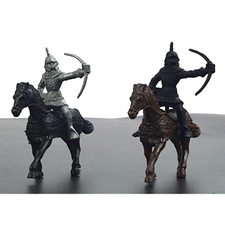 28pcs Plástico Medieval Cavaleiros Cavalos Figuras de Ação Brinquedos Modelo Militar Soldado Playset para Crianças Menino Crianças Presentes