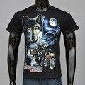 Nueva Lobo Animal del Bosque de Impresión 3D Camisetas Hombres Del Algodón Del O-cuello Negro Camiseta Personalizada Camisetas de Los Hombres