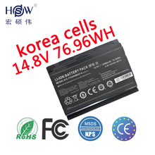 Genuine 14.8V 76.96Wh P150hmbat-8 battery for Sager Clevo 6-87-x510s-4j72 Np8150 Np8130 Clevo P150hm P151hm bateria akku for clevo for p750 p750zm hdd board 6 71 p7508 d03