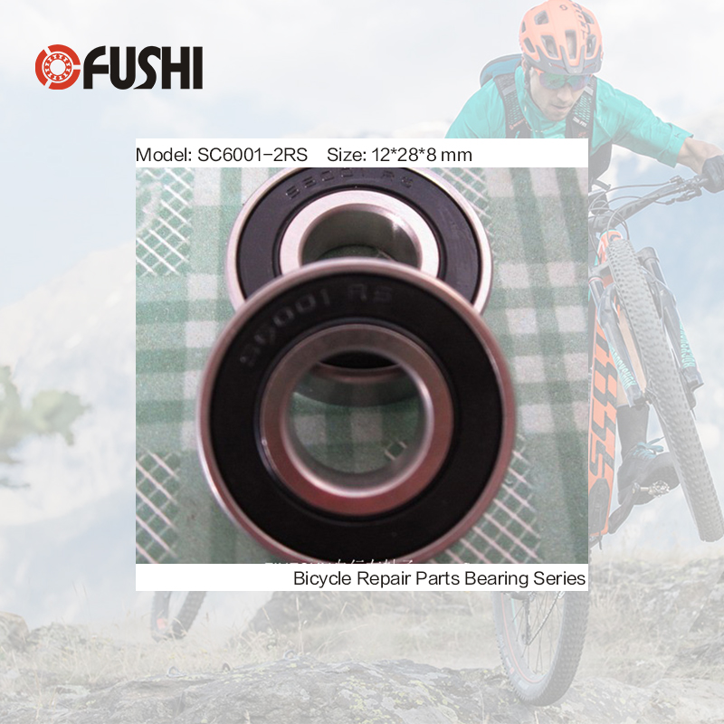 6001-2RS Stainless Bearing 12*28*8 mm ( 1 PC ) ABEC-3 6001 RS Bicycle Hub Front Rear Hubs Wheel 12 28 8 Ceramic Balls Bearings 2018 hot sale time limited steel rolamentos 6821 2rs abec 1 105x130x13mm metric thin section bearings 61821 rs 6821rs
