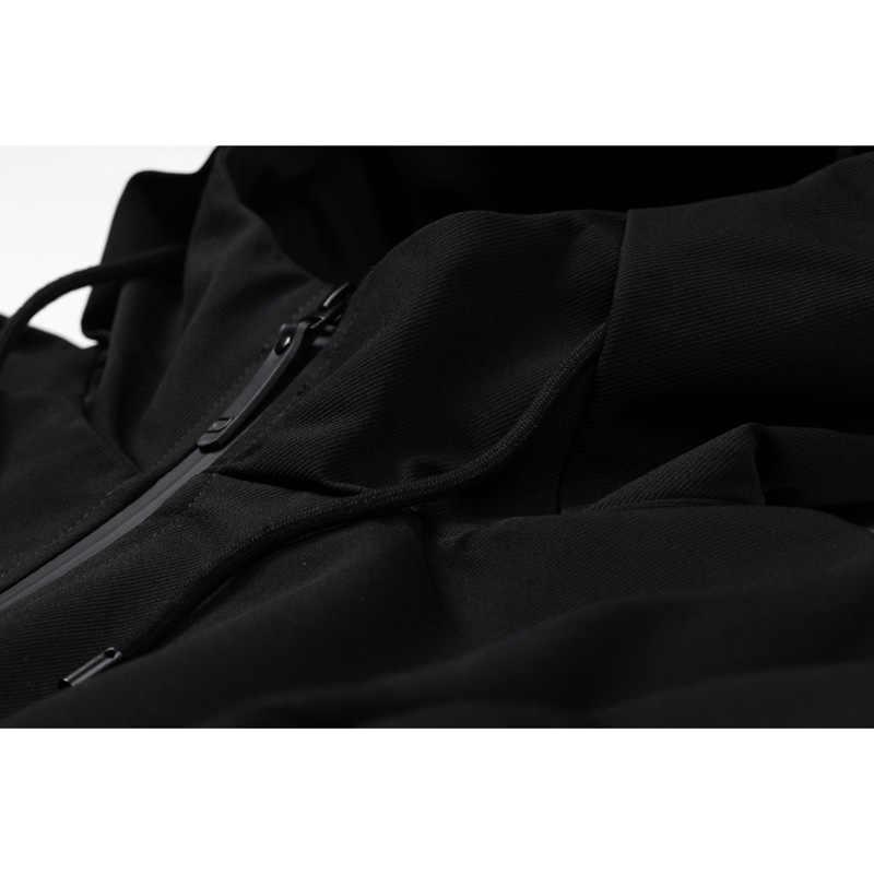 Enjeolon бренд толстовки Тренч мужской ветровка мужская одежда длинное пальто черный Тренч куртка для мужчин 3XL JK0436