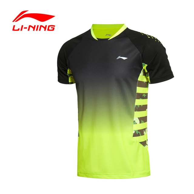 Li-Ning Men's Badminton Series Quick Dry Breathable Flexible T-Shirts  LiNing Sports Training T-Shirts AAYK291 MTS1810