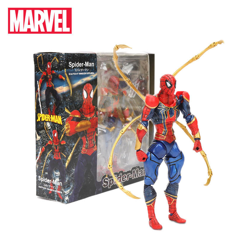 2019 16cm Marvel Toys Marvel Endgame Iron Spiderman PVC Action Figures Spider-Man Figurine Movable Collection Model Dolls(China)