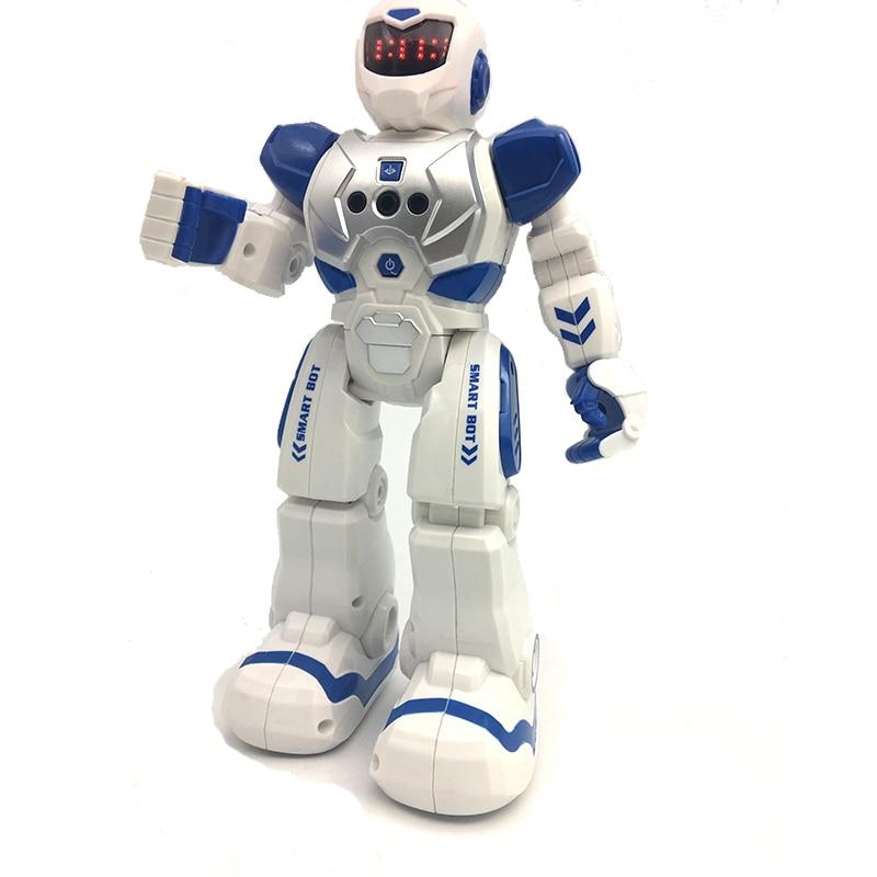 купить RC Remote Control Robot Smart Action Robot Toy Infra-red Transmitter Allows Gesture Control Action Figure Toys for Children Kid недорого