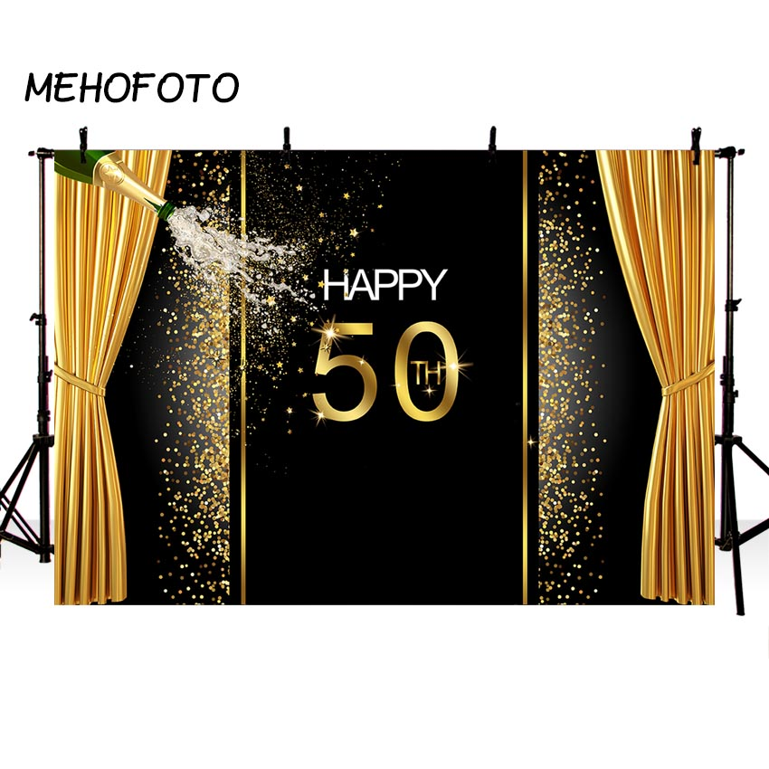 50th Birthday Backdrop Party Banner Photography Background