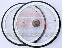 26 inch beach bike wheel 7 speed retro beach bike wheel group V brake 2.125 white side tires 140PCS spokes Bike hub