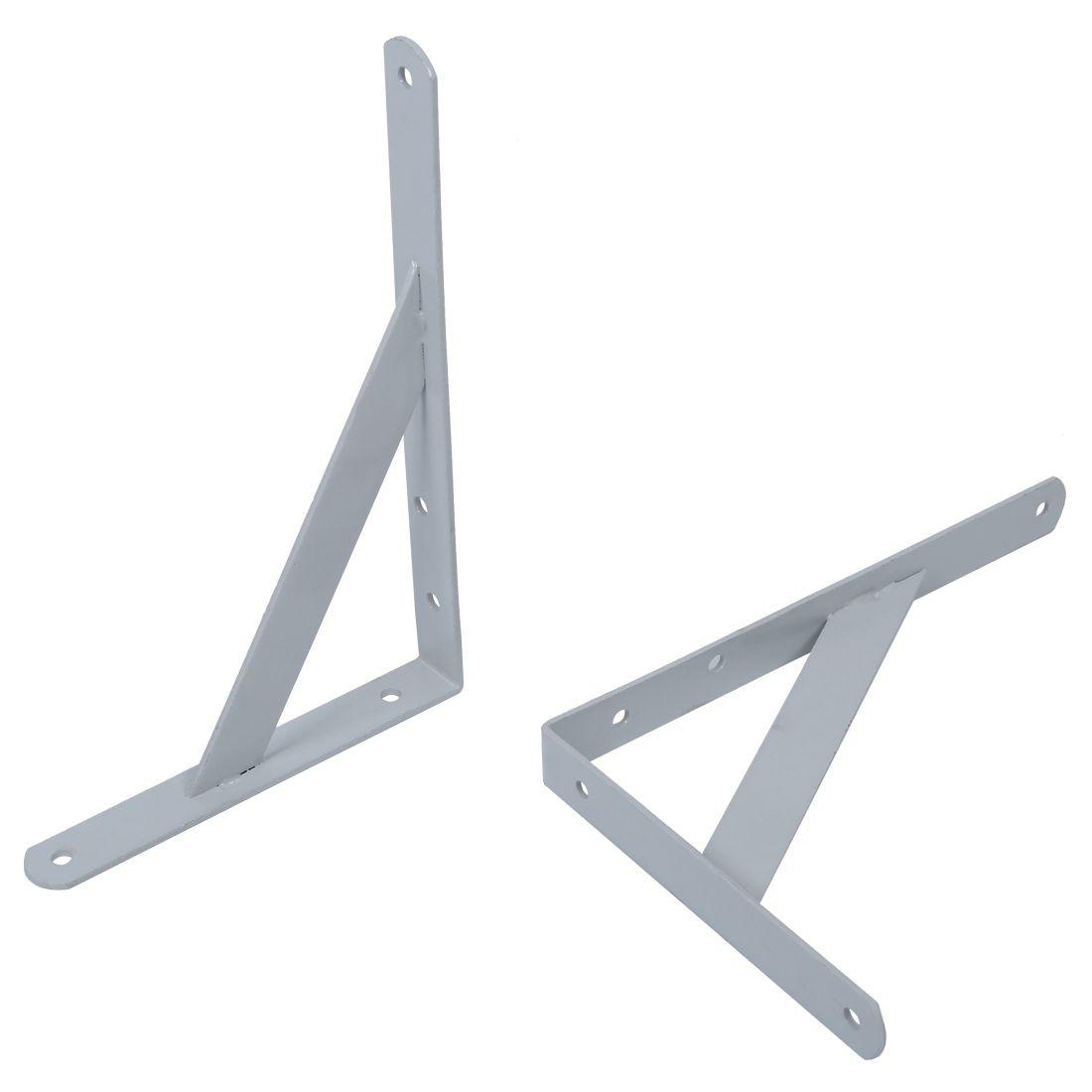 10PCS Heavy Duty White Decorative Shelf Brackets Wall Mounting Bracket Shelf Support Frame