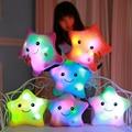 Almohada luminosa juguetes de Navidad Led luz almohada de felpa caliente colorido de las estrellas, regalo de cumpleaños de YYT214