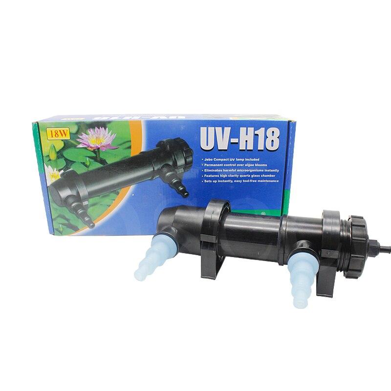 18W UV Light Sterilizer Aquarium Clarifier Filter Pond Tank Lamp Pond