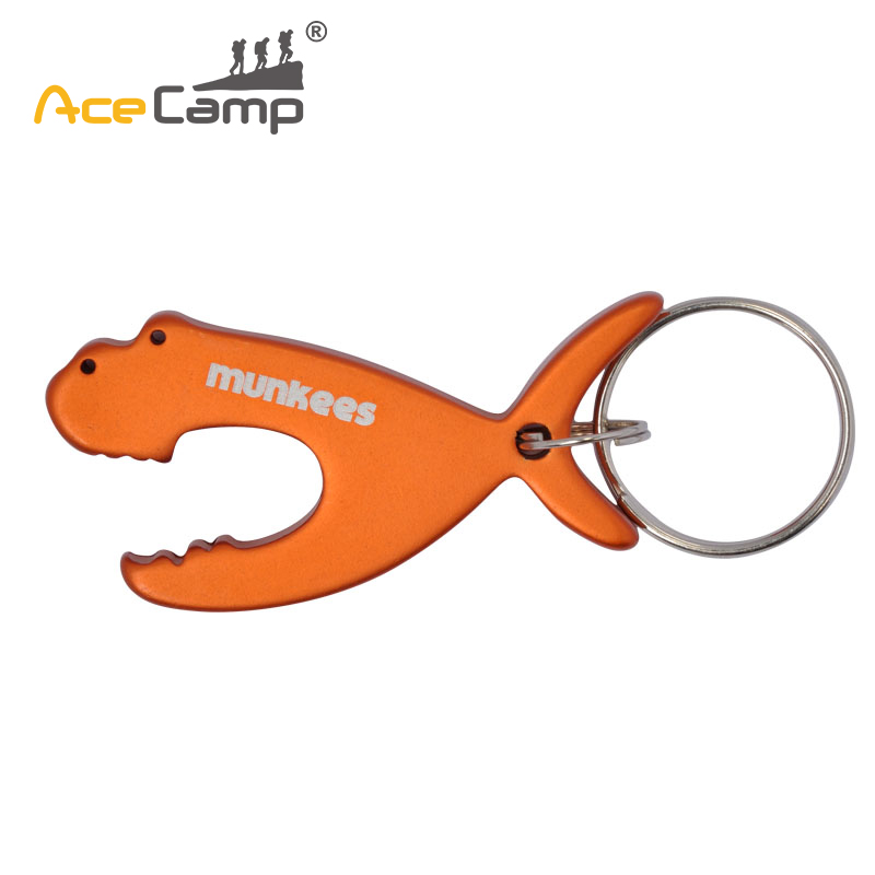 AceCamp Aluminum Alloy Fish Beer Openers Animal Wine Beer Bottle Key Ring Keychains Favourite Gifts