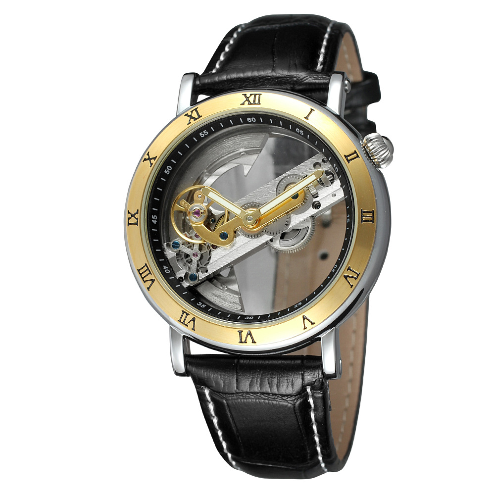 Forsining мужской часы Уникальный Дизайн прозрачный чехол Reloj Hombre скелетонизированый механизм Для мужчин автоматические механические наручные...
