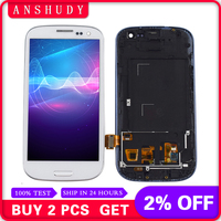 i9300 display For Samsung Galaxy S III S3 i9300 i9301 i9305 i535 i747 LCD Display Module + Touch Screen Sensor Assembly Frame