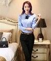 Diseño Uniforme Profesional de Negocios Formal Trajes de Las Mujeres Primavera Otoño Mujer Trajes de Pantalón Con Tops Y Pantalones de Las Señoras Pantalones Conjuntos